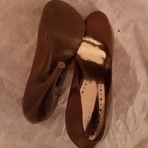 BCBGirls Shoes - BCBGirls Brown Patent Leather Heels